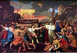 The Adoration of the Golden Calf by artist Nicolas Poussin