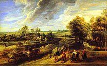Rubens, ritorno dei contadini dai campi, pitti.JPG