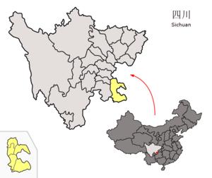 图中高亮显示的是泸州市