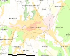 隆斯勒索涅市镇地图