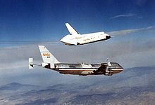 Enterprise being release from the Shuttle Carrier Aircraft for the Approach and Landing Tests