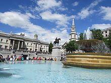 Fountain at Trafalgar Square, 2014