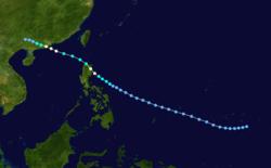 强热带风暴布伦登的路径图