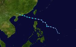 热带风暴杜苏芮的路径图