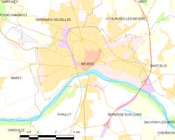 讷韦尔城区地图