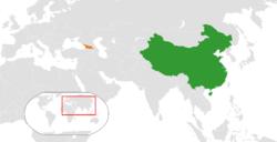 China和Georgia在世界的位置
