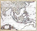 Indiae Orientalis, 17th century map by by Nicolaes Visscher II