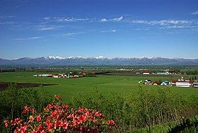 十勝平野の大規模農場