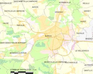 埃夫勒城区地图