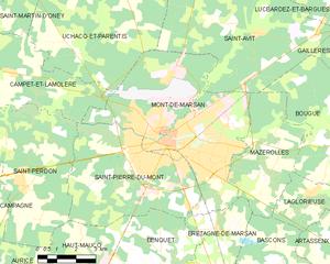 蒙德马桑市镇地图