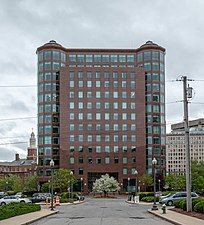 One Citizens Plaza, a red commercial high-rise building in Downtown Providence