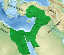 Color-coded map of Palmyra