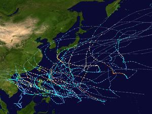 1971 Pacific typhoon season summary map.png