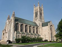 The Episcopal Cathedral of St. John the Evangelist dominates the South Hill skyline