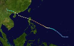 超强台风伊布都的路径图
