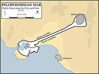 Pelopennesian War, Walls Protecting the City, 431 B.C..JPG