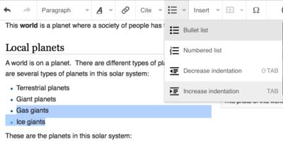 VisualEditor lists 4 indentation menu.png