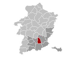 Hoeselt Limburg Belgium Map.png