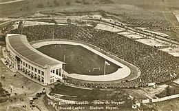 Aerial photo of packed stadium
