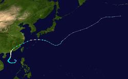 强风暴玛丽的路径图