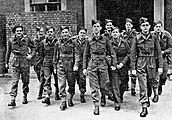 Michael Hargrave with other medical students who assisted at Bergen-Belsen