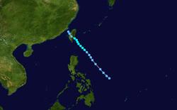 热带风暴潭美的路径图