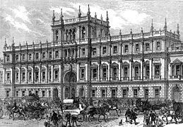 Image of Burlington House, London, in 1873