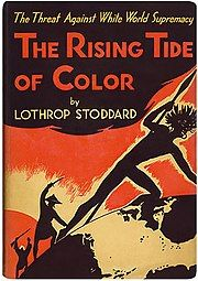 Dust jacket of the book The Rise of the Colored Empires by Lothrop Stoddard