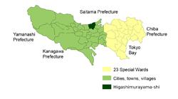 东村山市位置图