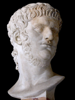 Male bust facing right