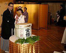 Breaking the sake barrel by Joshua Rappeneker in Tokyo.jpg