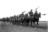 German cavalry with steel lances