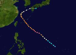 超强台风福雷斯特的路径图