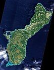 An unobstructed view of the island of Guam from 美国国家航空航天局Earth Observing-1(英语:Earth Observing-1) satellite