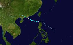 台风巨爵的路径图