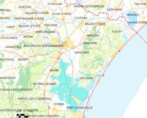 纳博讷市镇地图