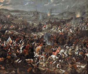 Painting depicting the Battle of Vienna, 1683