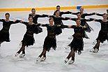 Rockettes performing a block
