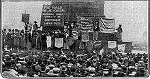 A demonstration in Trafalgar Square