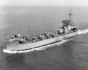 USS Pee Dee River (LSM(R)-517),1954年下水