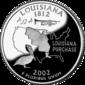 Louisiana quarter dollar coin