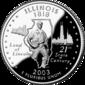 Illinois quarter dollar coin
