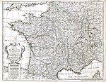 Carte de France dressée pour l'usage du Roy. Delisle Guillaume (1721)