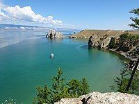 Lake Baikal as viewed from the Olkhon Island