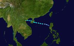 强热带风暴浪卡的路径图