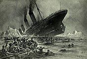 The Titanic's sinking, as depicted by Willy Stöwer