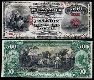 $500 National Bank Note