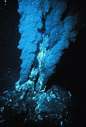 A hydrothermal vent in the Atlantic Ocean