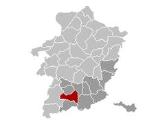 Borgloon Limburg Belgium Map.png