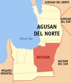 武端市在北阿古桑省的位置